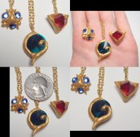 Spiritual Stones Pendants by wickedorin