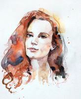 Another watercolor portrait by Couleursdether