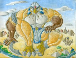 Horus guardian of the nile by DracoRex1890