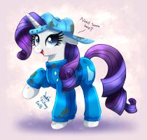 MLP FIM - Rarity Cart Race Helper by Joakaha