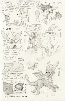 Don't Break the Chain 35 (Drawings #319-#326) by BrownieComicWriter
