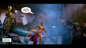 Slave Leia and Jabba the Hut by plinius