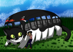 Totoro Kitty Bus by Colorfulmoongato