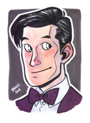 11th Doctor Portrait Card by scribblywobbly