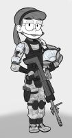 Liby ODST by DuskullDraws