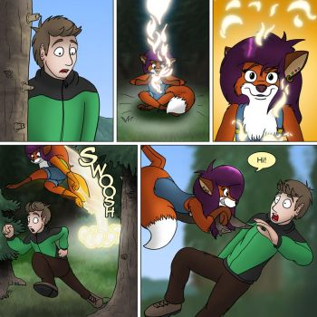 Wight folk page 1B - Magic fox in the forest by rodrev