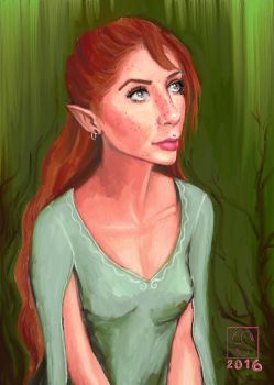 April Elf by The-Tinidril