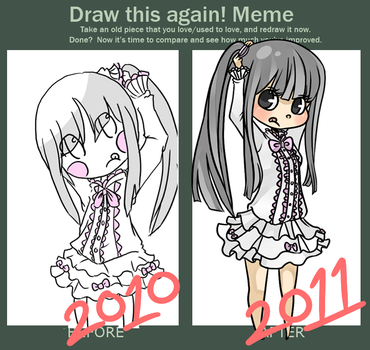 Draw Again Meme by stripedpants