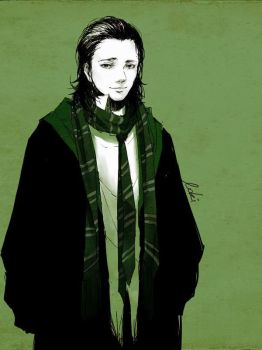 Loki in Slytherin by luthienelf