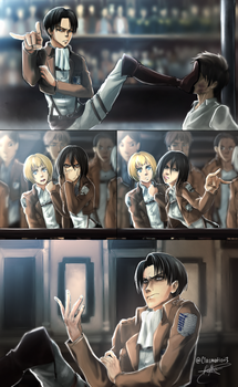 I'm Watching You... Ft. Captain Levi + Mikasa by Clasmaticii3