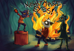 Night In The Woods Party by Soficathie