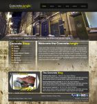 Concrete Jungle Website Layout by blaquejag