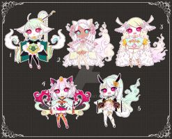 [CLOSED] Adoptable 105 - KIMONOMIMI AUCTION by Puripurr