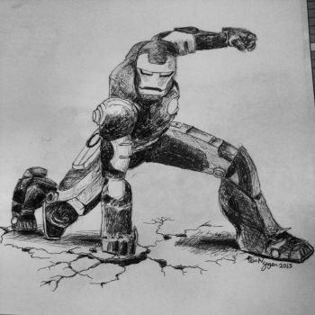 The Invincible Iron Man by dvn225