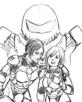 Ymir, Christa, and Saga by alden-r