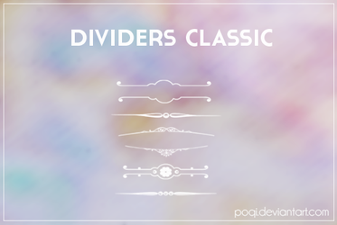 {Dividers Classic - brushes} by Poqi