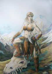 Skyrim commission by duridya