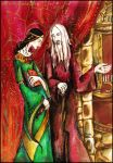 Morgana and Old Merlin by Vera-Ist-44
