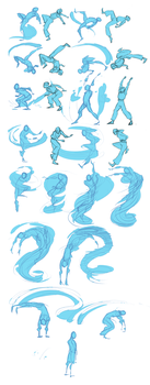 Li's original water bending form by KRIIZILLA