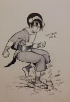 Inktober Day 3: Toph by Exploom