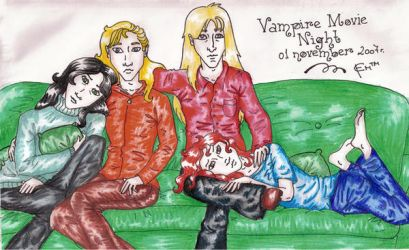 Vampire Movie Night by ready4death