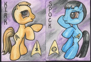 My Little Kirk and Spock cards by angelacapel