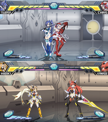 Symphogear Fighting Game Mock-up by Oniika