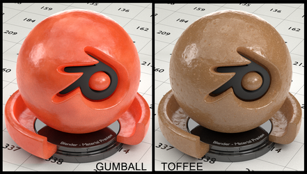 Toffee/Gumball material for Blender(no UVs needed) by Nikola3D