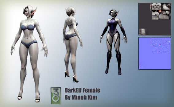 DokkAlfar Female Model by MinohKim