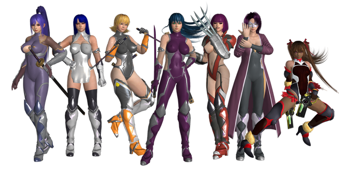 Taimanin Asagi Revised Model Pack Preview by faytrobertson