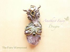 FairyDragon Pendant by EnchantedTokenArt