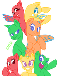 mlp main 7 base by EmeraldJewelTM