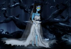 Lydia as the Corpse Bride by ARTIST-SRF