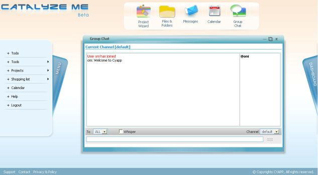 Project Tracking System - chat by netpal