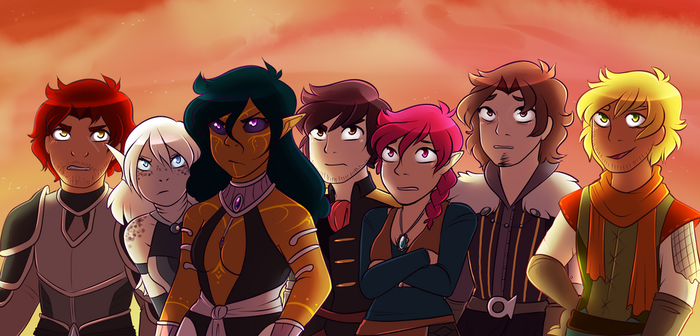 Angry children staring off into the distance by CrispyCh0colate