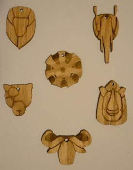 Big Five Wooden Key Chains by CentralCityTower