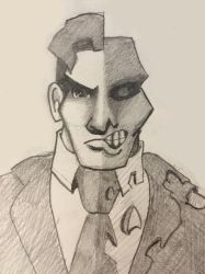 Two Face Doodle by gordonholmes