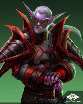 ...Commission: Night Elf Rogue.. by ShadowPriest