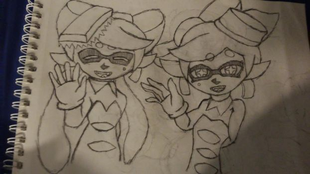 marie and callie by Th3Tur3GodMrbl3ach