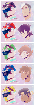 Voltron Rangers by chico-robot