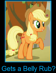 What if Applejack gets a belly rub by arvinsharifzadeh
