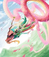 Pink dragon by tomoki17