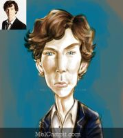 Caricature for Benedict Cumberbatch by melcasipit