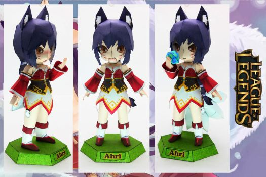 Ahri Papercraft League of Legends by Raven-Sent-iv