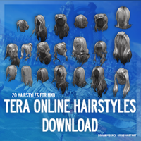[MMD] TERA Online Hairstyles - DL by SnowEmbrace
