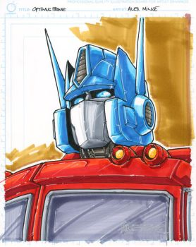 CS optimus prime by markerguru