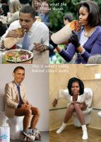 Barack And Michelle Obama Behind Closed Doors by ctomuta