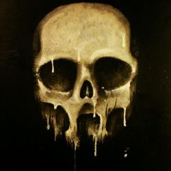 Acryllic candle-skull by Sharpener