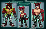 Crunch and his Prototypes. by rockycoot