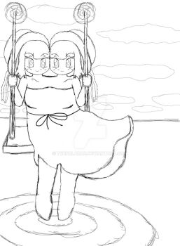 Sai Amp swing on water sketch by TwinBlazar